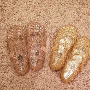 Lot of two pairs of Old Navy Jelly Slip ons